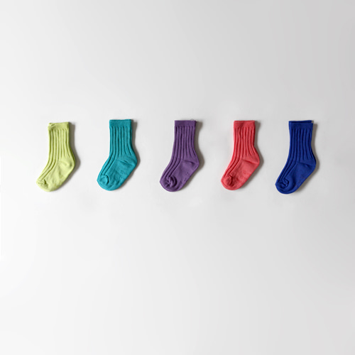 colorful golgi socks (5set)