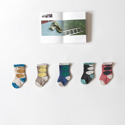 circle color socks (5set)