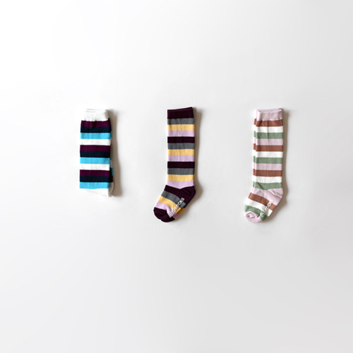 sole stripe knee socks