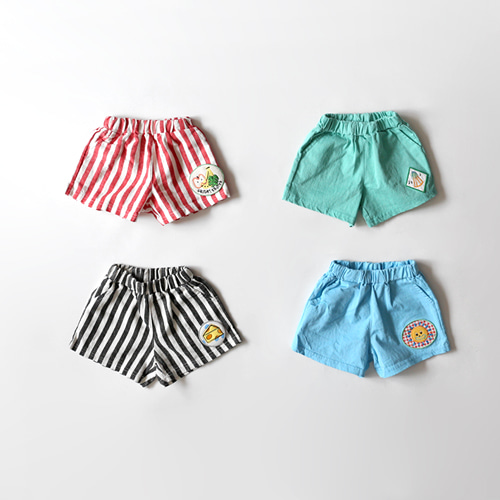 SALE bobo stripe&solid short pants -S/S season38%