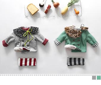 SALE fur wool half coat
