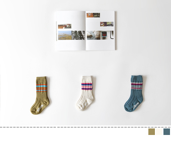 uko stripe socks(3set)