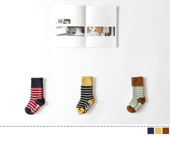 nicol stripe socks(3set)