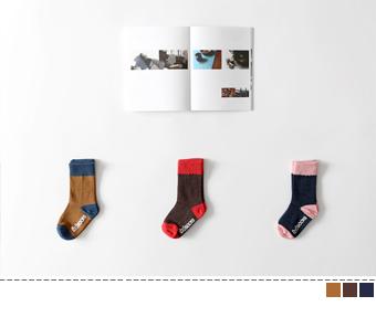 nua two-tone socks(3set)