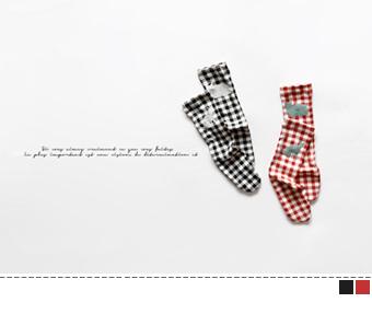 animal check socks
