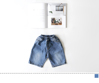 sand denim short pants
