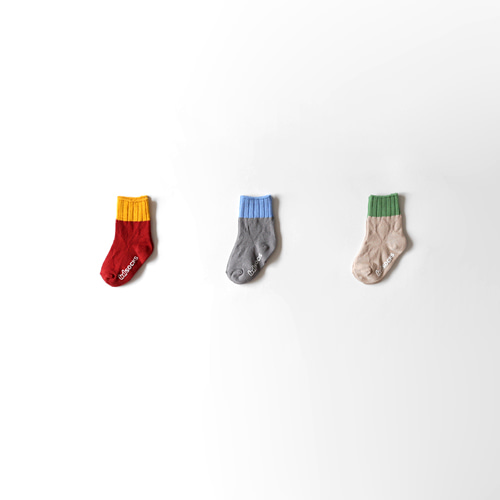 mino two-tone socks (3set)